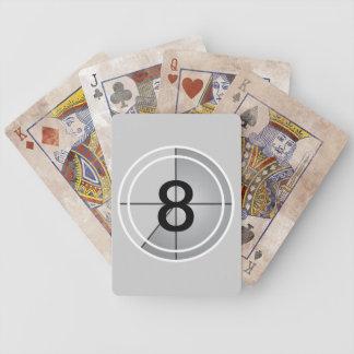 Cuenta descendiente de la película baraja de cartas