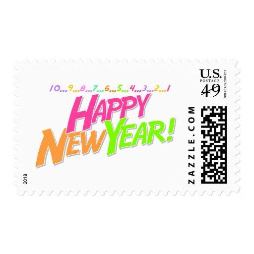 Cuenta descendiente del Año Nuevo Sello