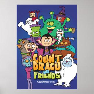 Cuenta Dracu y amigos - poster 20x28