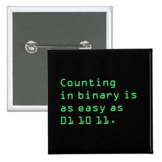 Cuenta en binario pin cuadrado