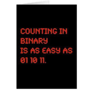 Cuenta en binario tarjeta de felicitación