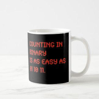 Cuenta en binario tazas de café