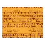 Cuenta gregoriana de la música del canto tarjeta postal