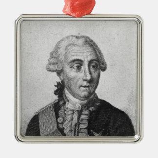 Cuenta Louis de Marbeuf 1829 Adorno Cuadrado Plateado