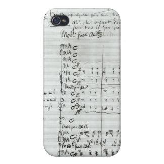 Cuenta manuscrita del acto III iPhone 4/4S Carcasa