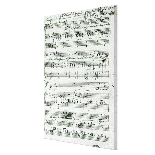 Cuenta manuscrita para el 'Hektors mentido Abschie Impresión De Lienzo