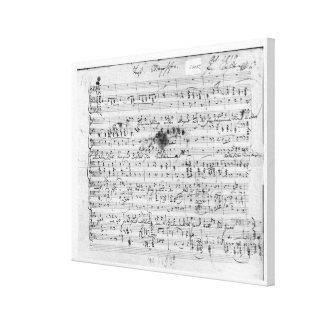 Cuenta manuscrita para el 'Trost mentido Impresión En Tela