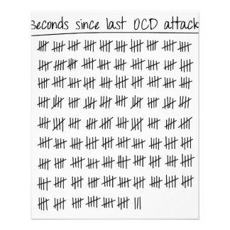 """Cuenta obsesiva del desorden OCD Folleto 4.5"""" X 5.6"""""""