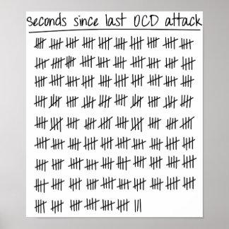 Cuenta obsesiva del desorden OCD Póster
