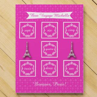 Cuenta rosada de París abajo