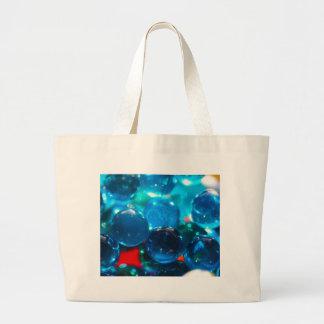 Cuentas de cristal azules Shinning Bolsa De Tela Grande