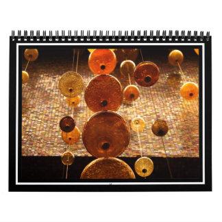 Cuentas de cristal colgantes calendario