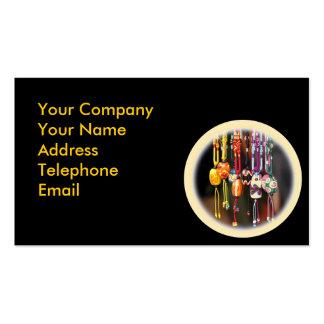 Cuentas de cristal coloridas hechas a mano tarjetas de visita