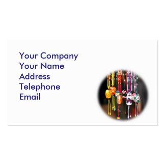 Cuentas de cristal coloridas hechas a mano tarjeta de visita