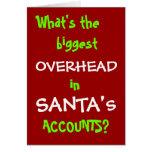 Cuentas de Santa - nuevo chiste del navidad Tarjetas