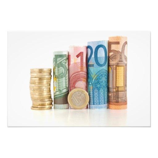 cuentas y moneda rodadas euro fotografias