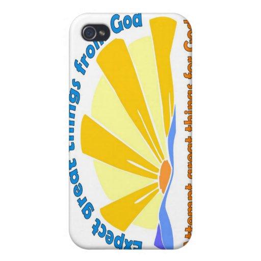 Cuente con las grandes cosas de dios, grandes cosa iPhone 4/4S carcasas