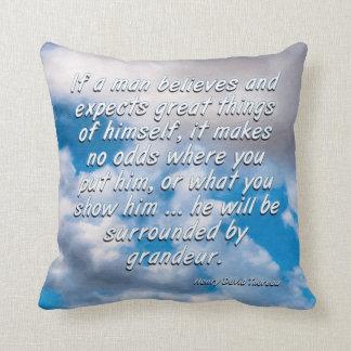 Cuente con las grandes cosas - Thoreau Cojines