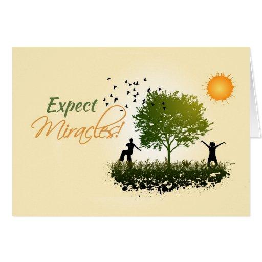 Cuente con los milagros, estímulo de la recuperaci tarjeton