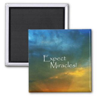 ¡Cuente con los milagros! Imán Cuadrado