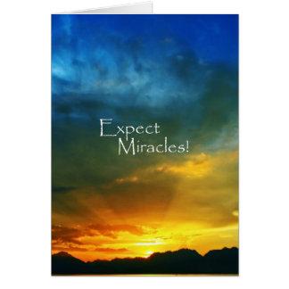 ¡Cuente con los milagros! Tarjeta De Felicitación