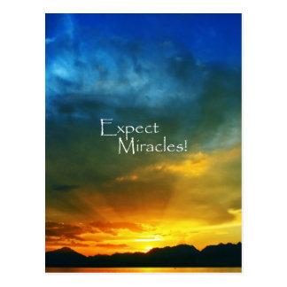 ¡Cuente con los milagros! Tarjetas Postales