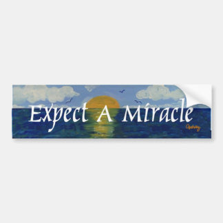 Cuente con un milagro pegatina para auto