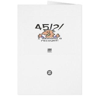 Cuente de nuevo el 45.o cumpleaños tarjeta de felicitación