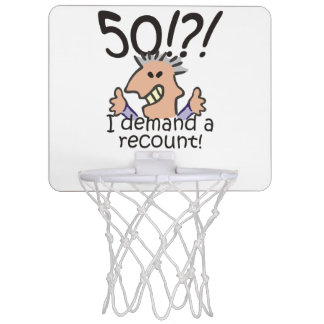 Cuente de nuevo el 50.o cumpleaños tablero de baloncesto mini