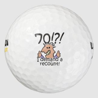 Cuente de nuevo el 70.o cumpleaños pack de pelotas de golf