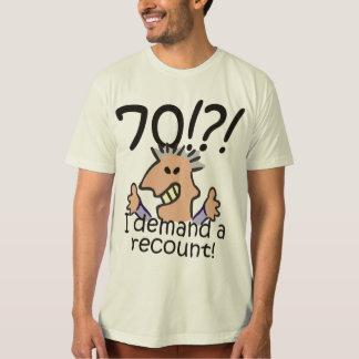 Cuente de nuevo el 70.o cumpleaños playera