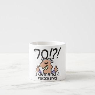 Cuente de nuevo el 70.o cumpleaños taza espresso