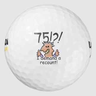 Cuente de nuevo el 75.o cumpleaños pack de pelotas de golf