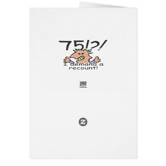 Cuente de nuevo el 75.o cumpleaños tarjeta de felicitación