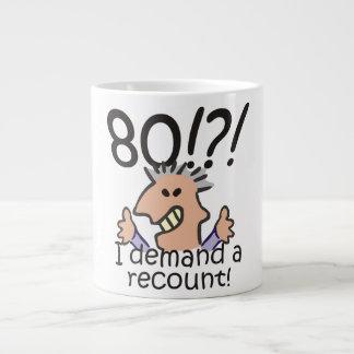 Cuente de nuevo el 80.o cumpleaños taza de café grande