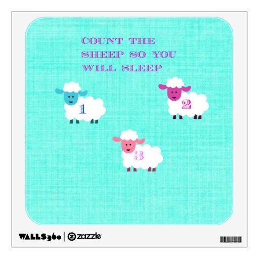 Cuente las ovejas así que usted dormirá etiqueta