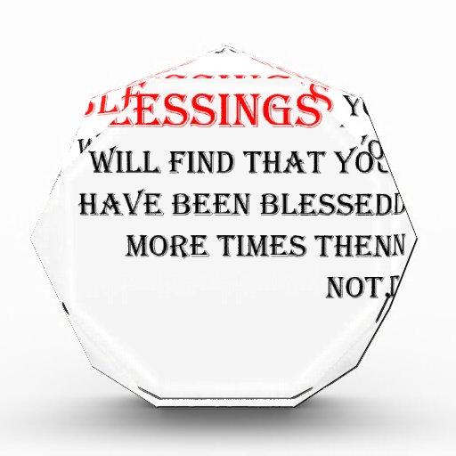Cuente su bendición que usted encontrará que usted