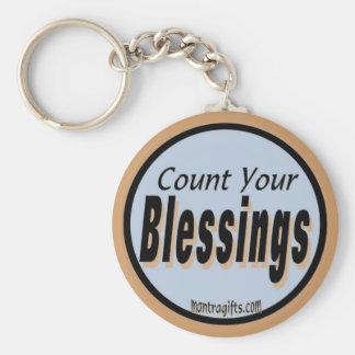 Cuente su llavero de las bendiciones