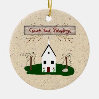 Cuente su ornamento de las bendiciones ornaments para arbol de navidad