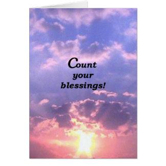 ¡Cuente sus bendiciones! Tarjeta De Felicitación