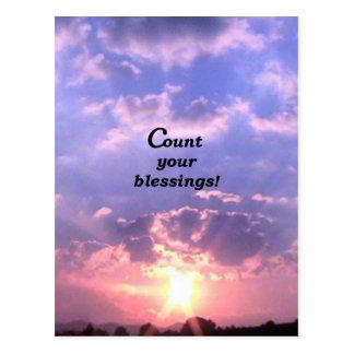 ¡Cuente sus bendiciones! Postales