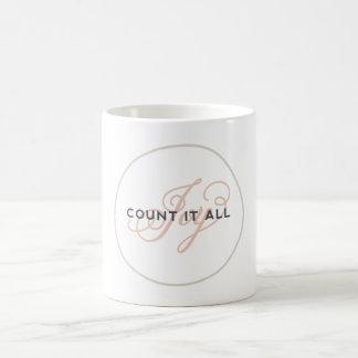 Cuéntelo toda la taza de café inspirada escritura
