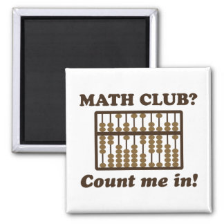 Cuénteme en el club de la matemáticas imán cuadrado