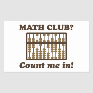Cuénteme en el club de la matemáticas rectangular altavoces
