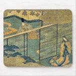 Cuento de Genji por Ando, Hiroshige Alfombrillas De Ratón