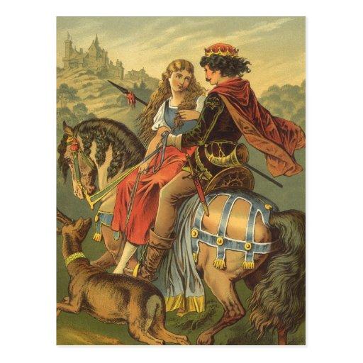 Cuento de hadas, Brother y hermana del Victorian d Tarjeta Postal