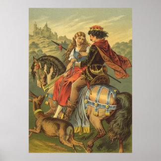 Cuento de hadas, Brother y hermana del Victorian Póster