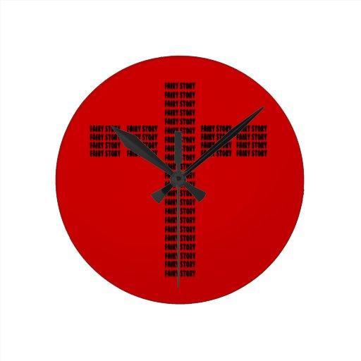 Cuento de hadas cristiano relojes de pared
