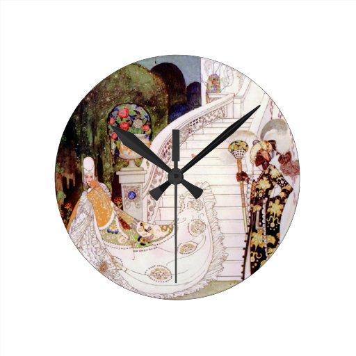 Cuento de hadas de Cenicienta de Kay Nielsen Reloj Redondo Mediano