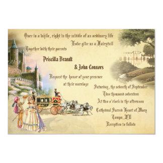 """Cuento de hadas de la fantasía del boda, creación invitación 5"""" x 7"""""""